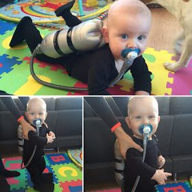 Det kreative hjørne..: Første fastelavn - baby costume - scuba diver - dykker - homemade