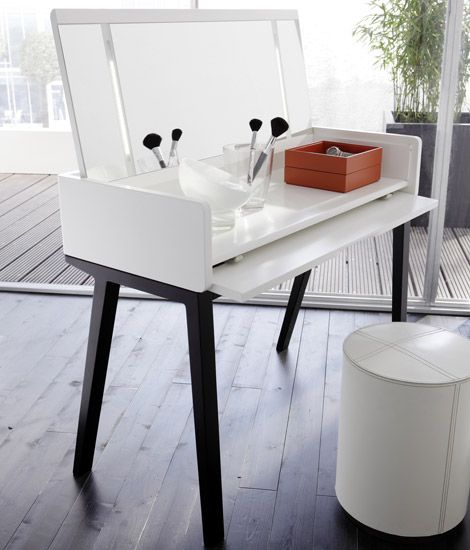 This Ultra Modern Bedroom Vanity Is A Part Of The Vico Collection By Gruber  + Schlager. This White High Gloss Lacquered Dressing Table Is A Real Gem. Design Inspirations