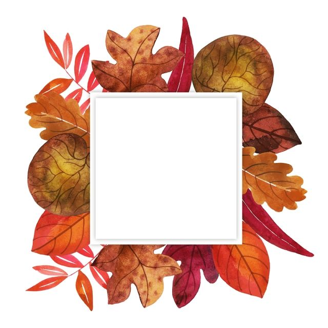 Watercolor Paint Painted Frame Background Backdrop Wallpaper Abstract Art Autumn Card Colorful Color Watercolor Autumn Leaves Wreath Watercolor Fall Watercolor