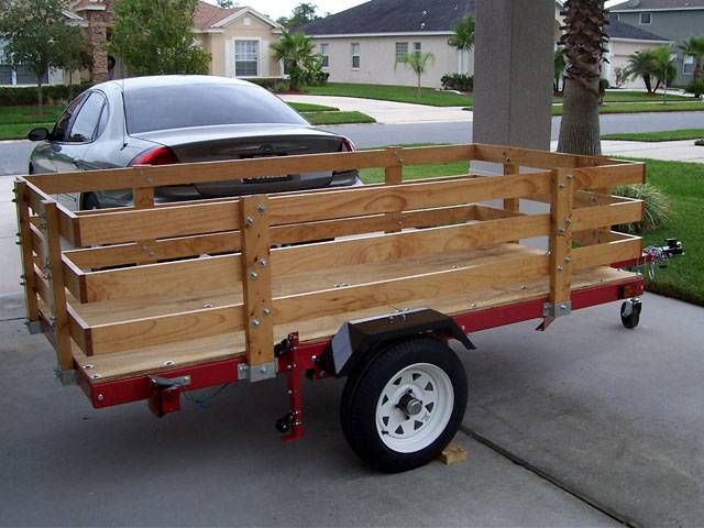 Wood Flatbed Trailer ~ Wooden trailer side kit bing images