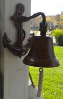 Antique Bronzed Bell - ring the bell for couple to kiss, different twist for beach themed wedding