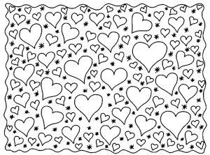 Les 25 meilleures id es de la cat gorie coloriage coeur sur pinterest coeur colorier - Coloriage fleur britto ...