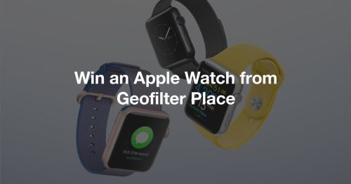 Win an Apple Watch from Geofilter Place   Geofilter Place {US}... sweepstakes IFTTT reddit giveaways freebies contests