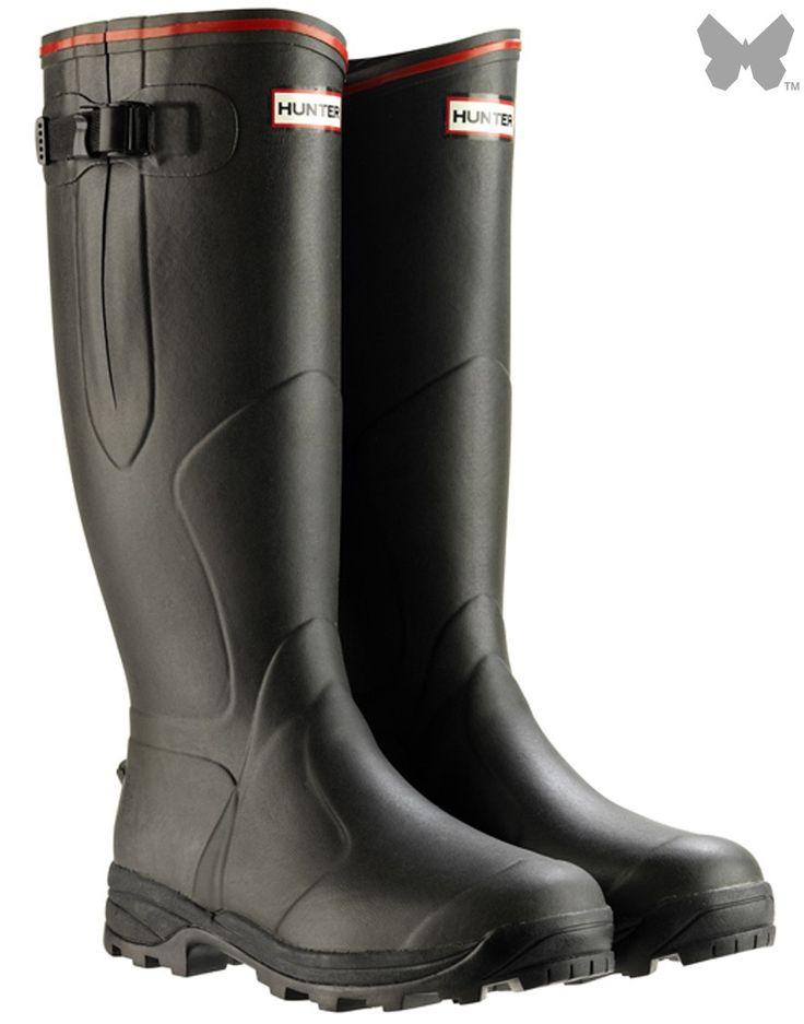 Hunter Balmoral Neoprene 3mm Wellington Boots - Dark Olive - Footwear   Country Attire