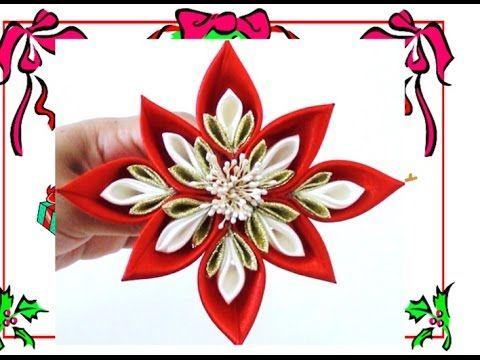 FLOR DE NOCHEBUENAS | ADORNOS NAVIDEÑOS/CHRISTMAS ORNAMENTS | RECICLAJE | DIY - YuureYCrafts - YouTube