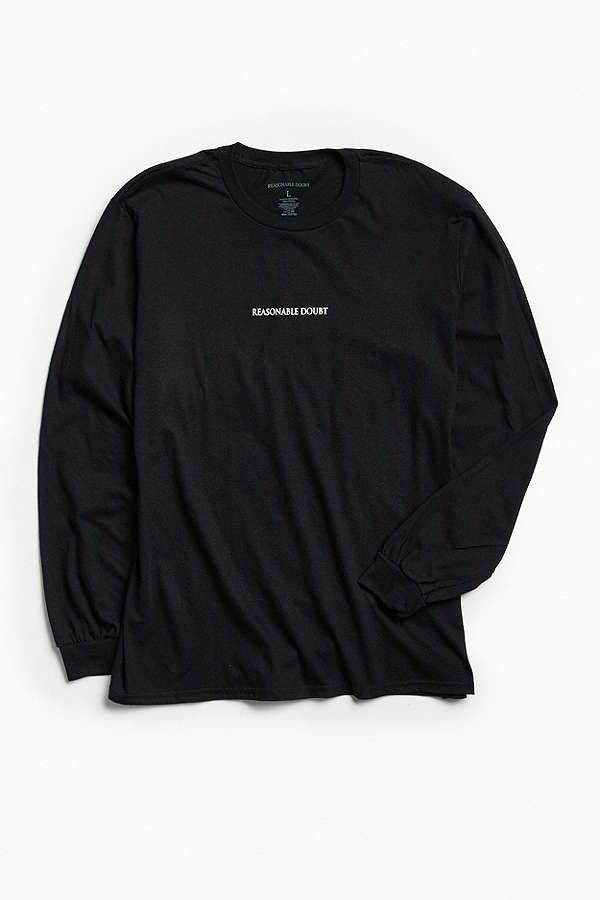 Jay-Z Reasonable Doubt Track List Long Sleeve Tee