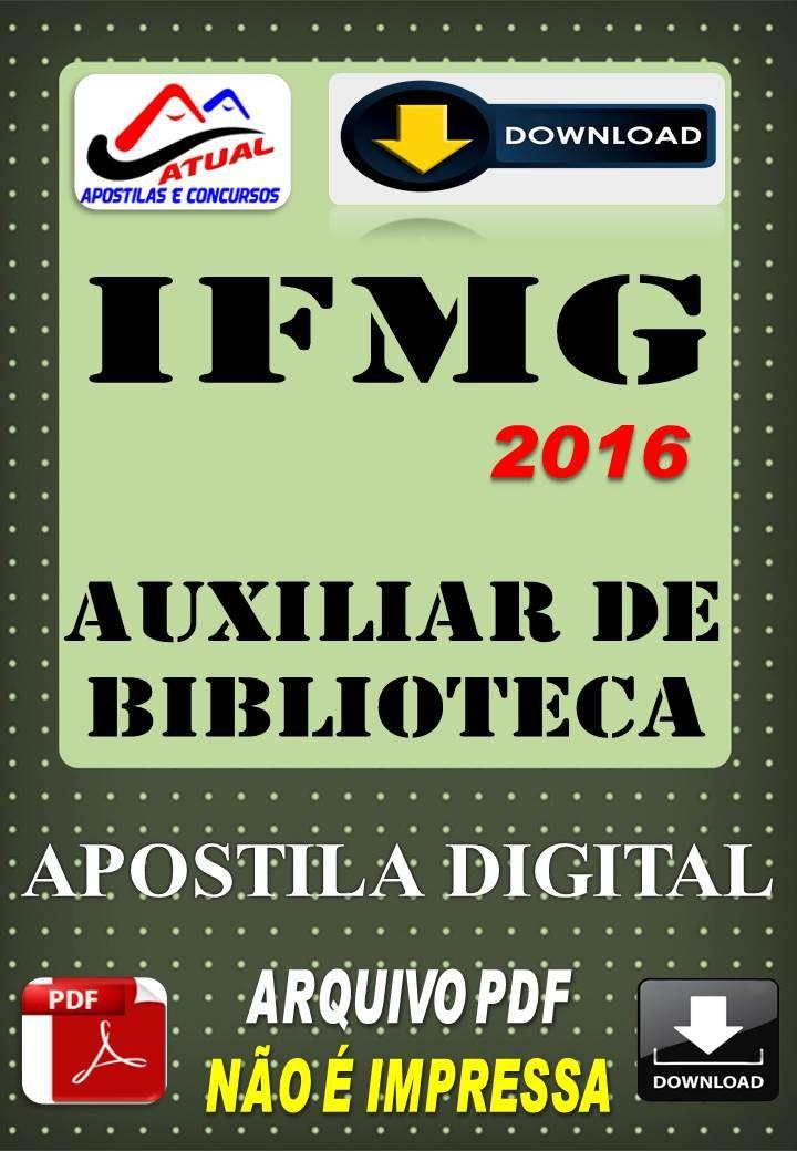 Concurso IFMG Auxiliar de Biblioteca 2016