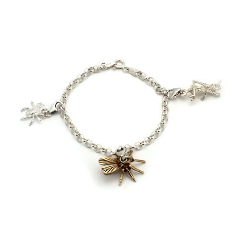 The Insect Charm Bracelet by Kate McCoy from the Wasp Collection, featured in the Good Weekend magazine  30th Nov/1st Dec