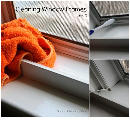 Want your window frames to sparkle? Join us in Day 2 of Cleaning Window Frames #spring #cleaning #windows