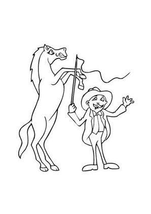 ausmalbild zirkuspferd zum ausmalen. #ausmalbilder | #