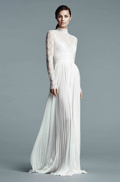 24 best images about wedding dress on pinterest lace for Wedding dresses with high neck and long sleeves