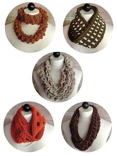 30-Minute Infinity Scarves Set 2 Crochet Pattern