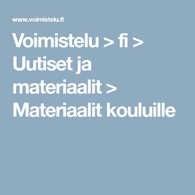 Voimistelu > fi > Uutiset ja materiaalit > Materiaalit kouluille