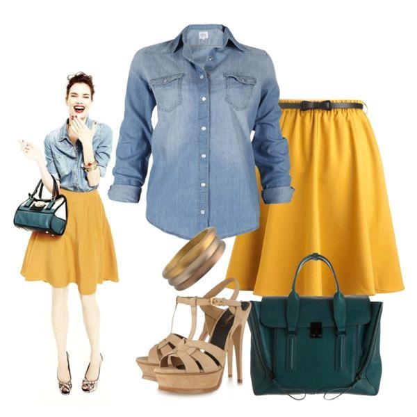 джинсовая рубашка женская с юбкой - Поиск в Google