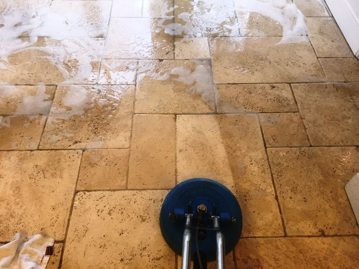 Recently I visited a client in the town of Maidenhead, Berkshire who needed assistance restoring a very dirty pitted Limestone tiled floor which had suffered over the years due to poor maintenance choices. The pressures of a busy family life had, understandably, prevented my client from undertaking regular cleaning and the products and methods used for cleaning were by and large unsuitable for this type of natural stone.