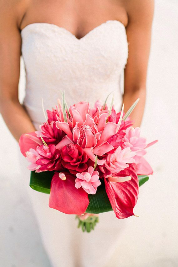 Tm Love The Ginger Lilies Anthuriums Pink And Green Layer Cakesbouquet Weddingwedding