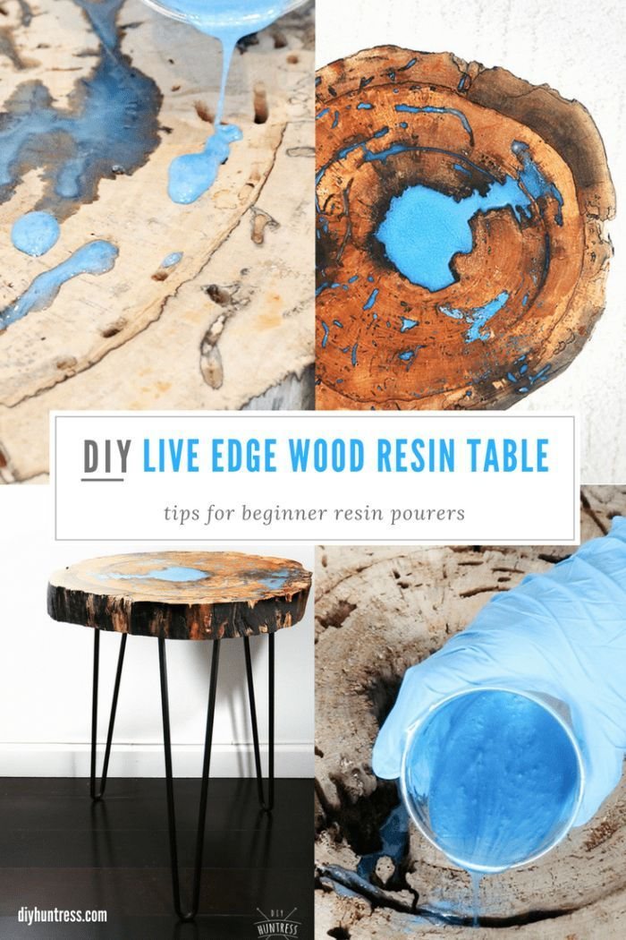 DIY Woodworking Ideas #DIY Live Edge #Resin and #Wood Table - #ad BernzOmatic