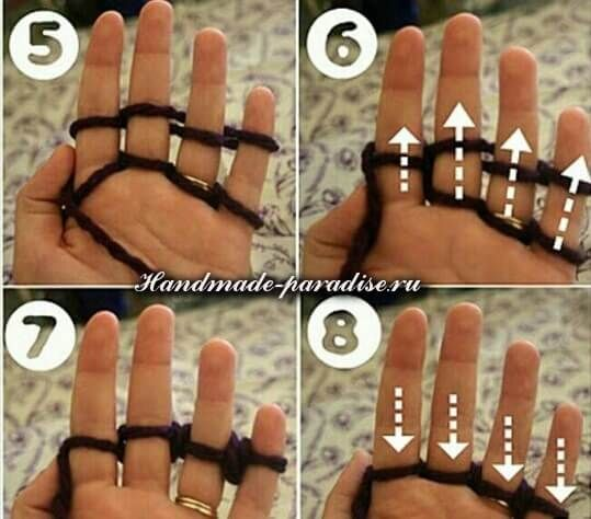 Вязание на пальцах (7)