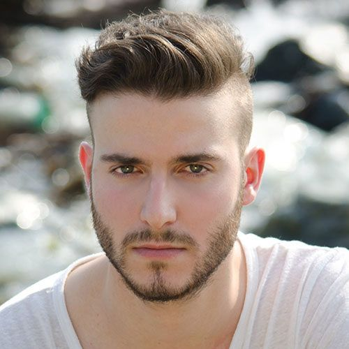 """Men's undercut. This was simply the product of a Google search for """"men's hair 2014"""". It's a great example of exactly what guys are looking for."""