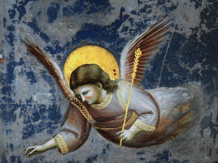 Angel (detail. fresco) 1305-06  Giotto di Bondone (1266-1337)   During  Medieval Times Angels played a huge part in human consciousness. Angels, Angelic Beings seems again to play a huge part in human consciouness. Life Repeat itself circularly but always goes in Forward Motion, somehow.