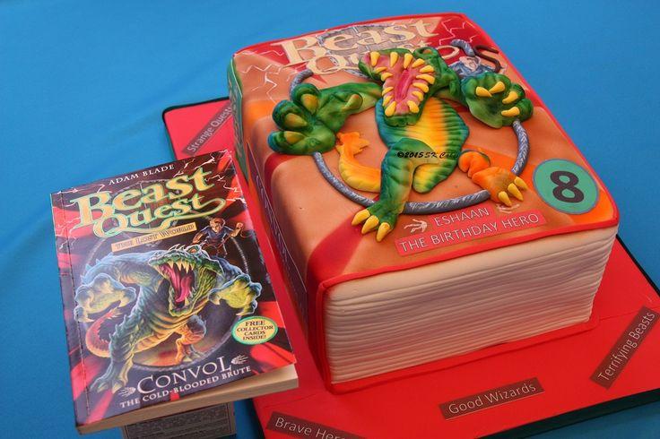 Beast Quest Book Cake.