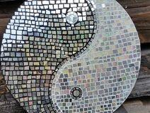 Mosaic CD Koláž jin a jang disk