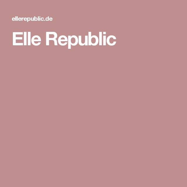 Elle Republic