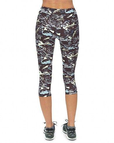 Sweatybetty.com Contour Crop Workout Leggings Colour: Multi Size XL £35.00