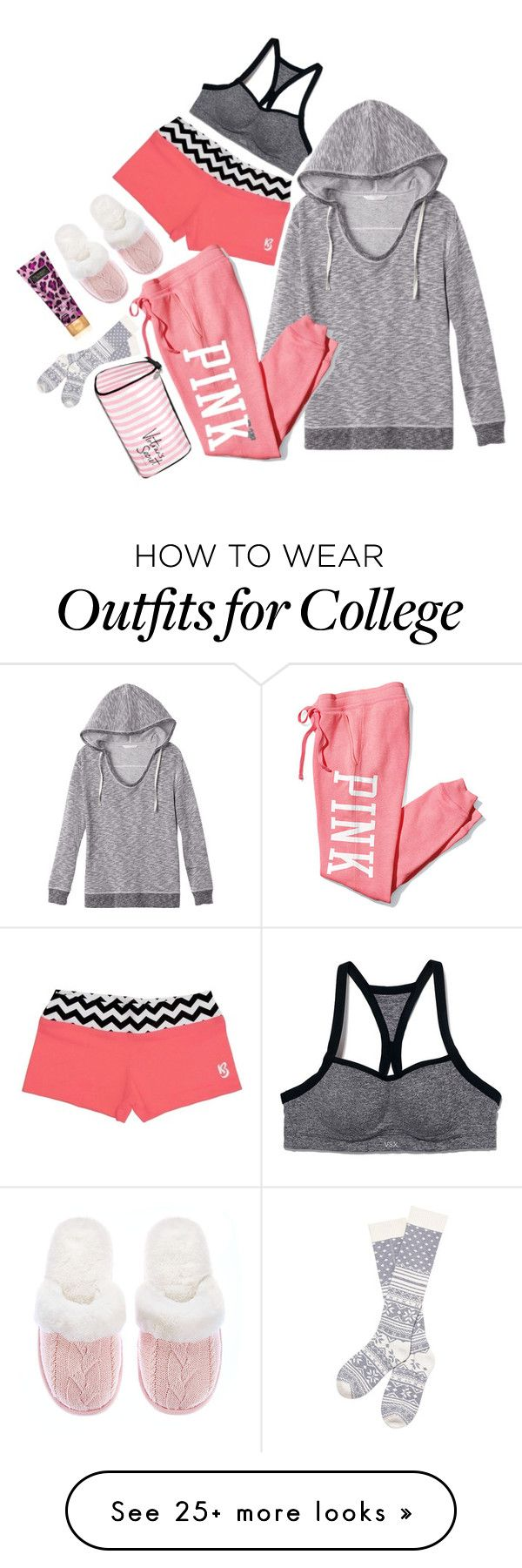 """pink"" by adele-adik on Polyvore featuring Victoria's Secret and Victoria's Secret PINK"