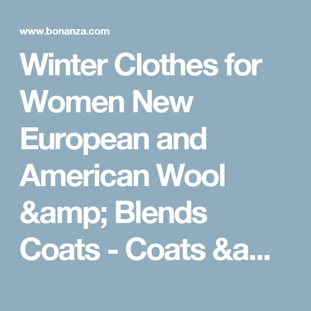 Winter Clothes for Women New European and American Wool & Blends Coats  - Coats & Jackets