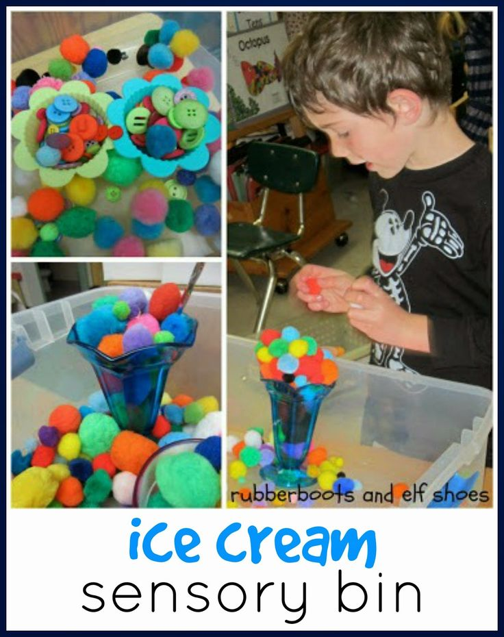 rubberboots and elf shoes: ice cream: a sensory bin