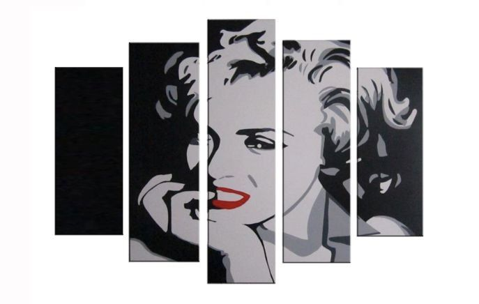 cuadros marilyn monroe blanco negro labios rojos madrid barcelona ...