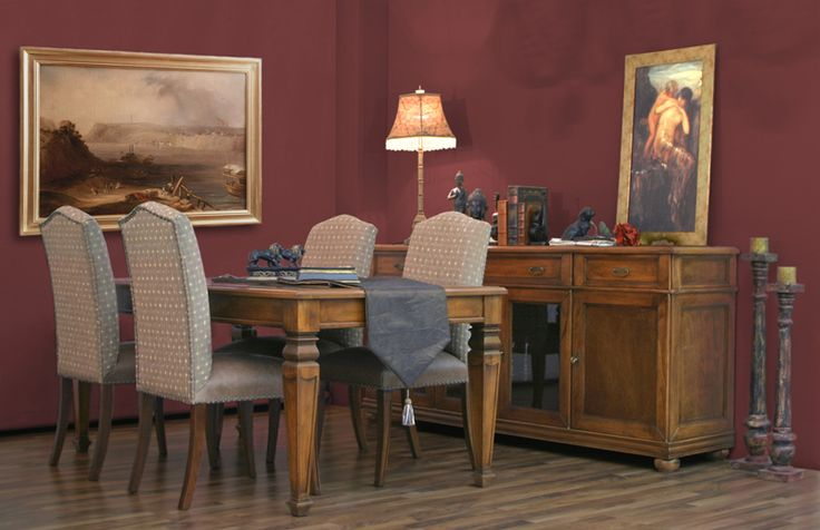 classic table, sideboard and chairs Antiqua