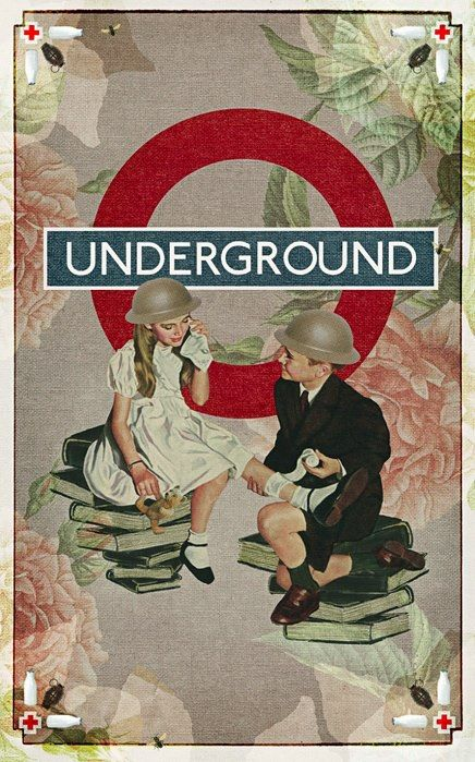The Underground's finest hour, when children and their families were forced to seek shelter there during  The Blitz.