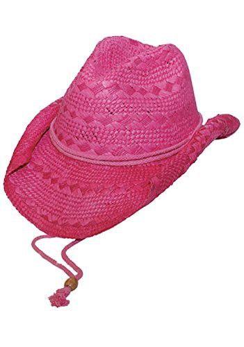 6ddec68074e MG Ladies Toyo Straw Cowboy Hat FUCHSIA