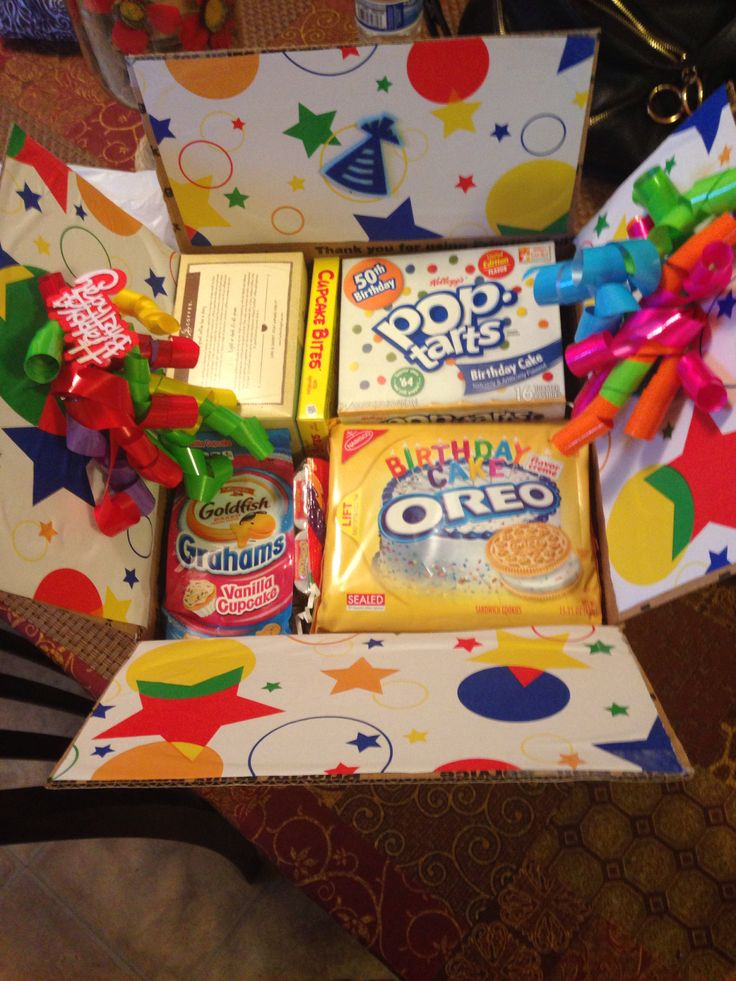 omg this is by far the BEST birthday care package I've seen! thanks for the idea!!