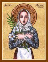 St. Maria Goretti icon by Theophilia