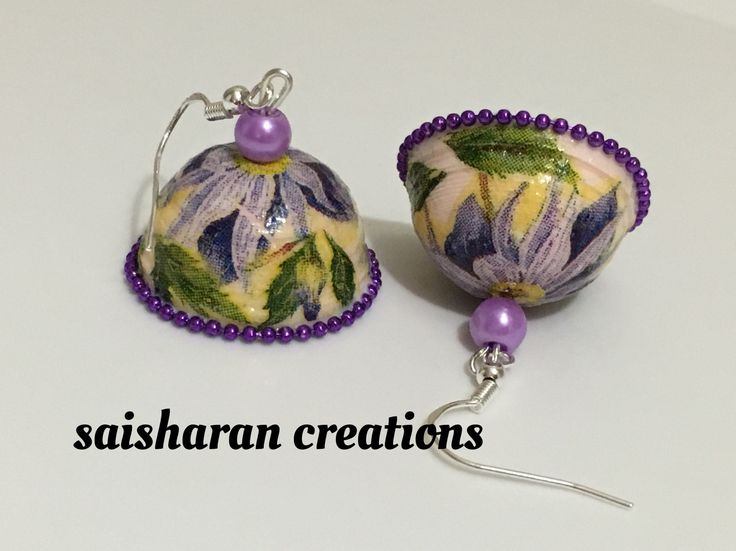 quilling decoupage jhumkas