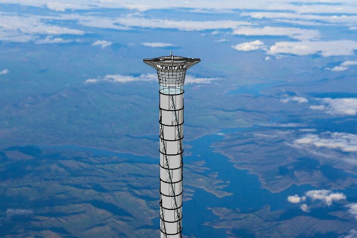 A newly patented design for facilitating rocket launches envisages the construction of a 20 kilometre high space elevator.