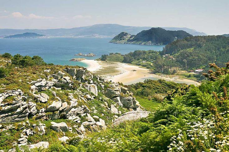 Las islas Cíes, en Vigo, un paraíso en Galicia.