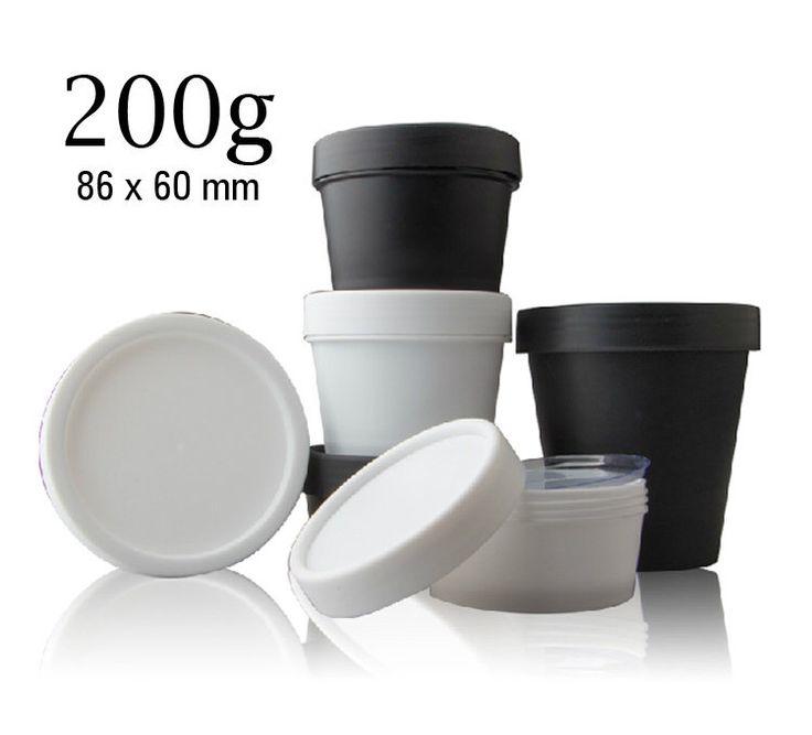 50 pz / 200g barattoli di plastica, vaso, bottiglie con coperchio & disco Liner - Crafter forniture contenitori - cosmetici cura della pelle facciale / bagno imballaggio di HaloDeLune su Etsy https://www.etsy.com/it/listing/236915272/50-pz-200g-barattoli-di-plastica-vaso