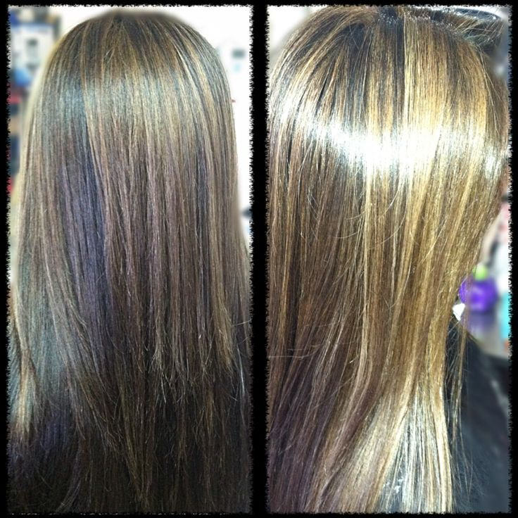 Dark Brown Hair Color With Caramel And Subtle Blonde