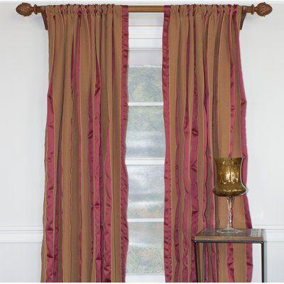 Astoria Grand Westhoff Striped Room Darkening Single Curtain Panel