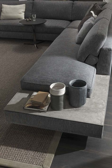 Davis Case sofa by Frigerio | Davis collection is characterised by a wide selection of elements for feet, arms, accessories and storage solutions. Available from Pure Interiors.