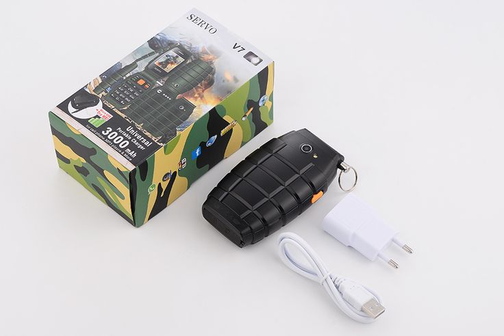 Servo V7 3000mAh 2.4-inch OTG 3 SIM Card 3 Standby Power Bank Outdoorts Mobile Phone