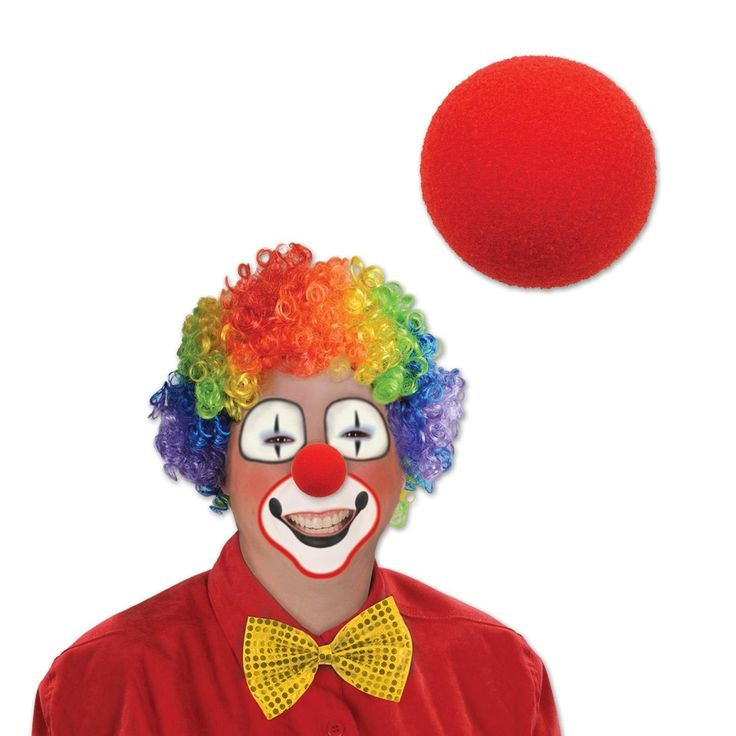 Club Pack of 12 Clown Noses 2'', Red