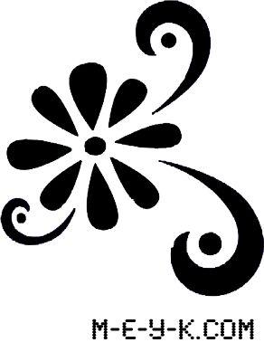 Filigree stencils filigree flower stencil stencil for Stencil x cucina