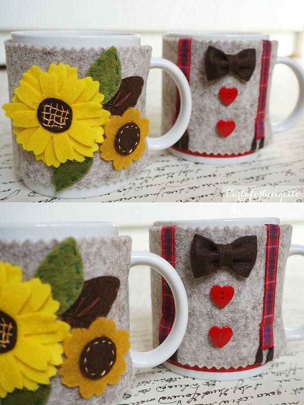 Copritazza in feltro - Felt Mug Cozy