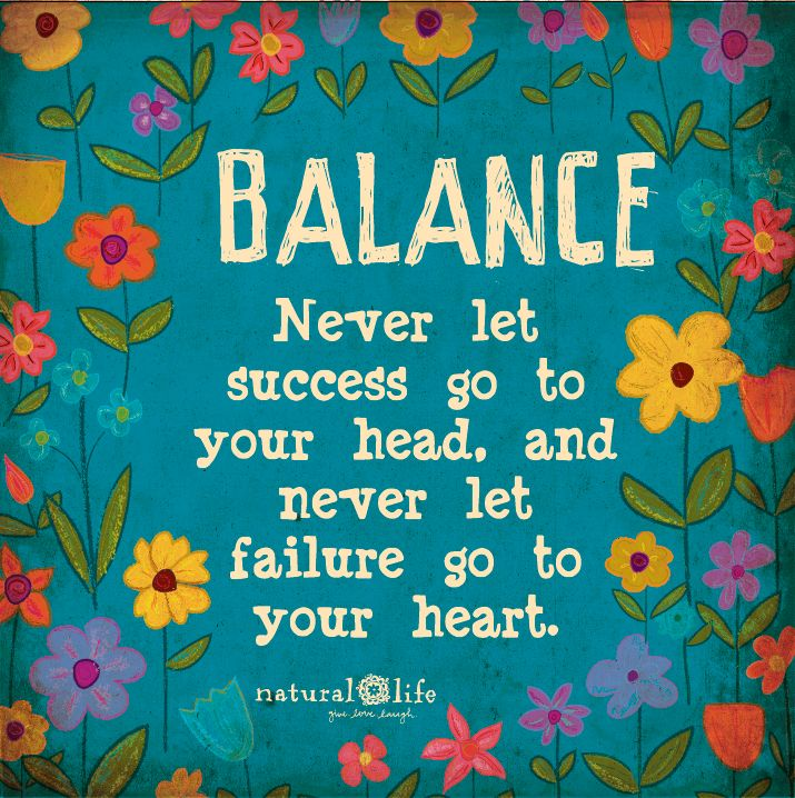 balance is what it's all about!