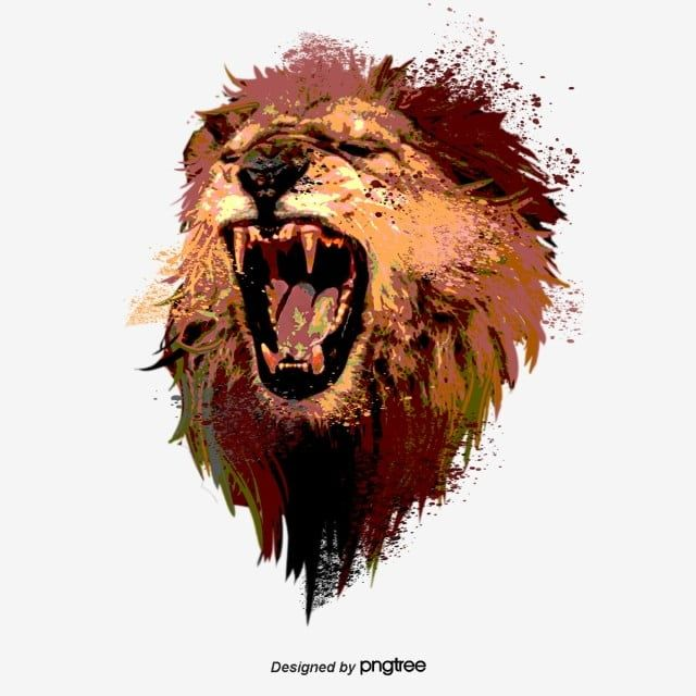 Hand Drawn Elements Of Roaring Lion Roar Lion King Clipart Male Lion Ferocious Png Transparent Clipart Image And Psd File For Free Download Roaring Lion Male Lion Lion Clipart